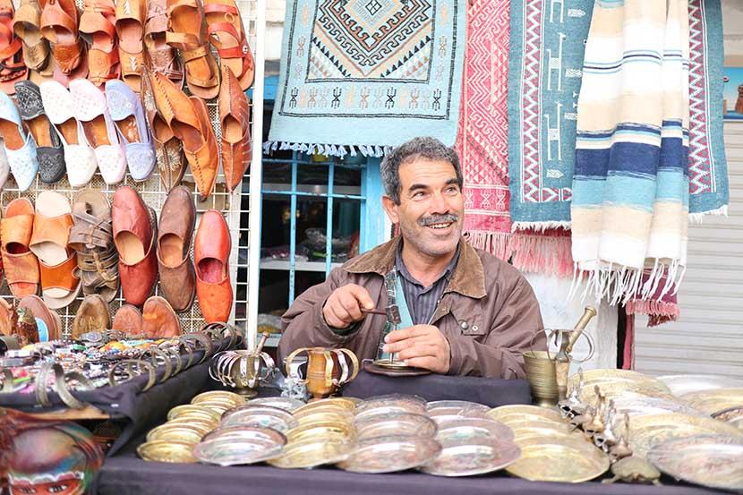 Copper Artisan Working in Houmet Souk, Djerba