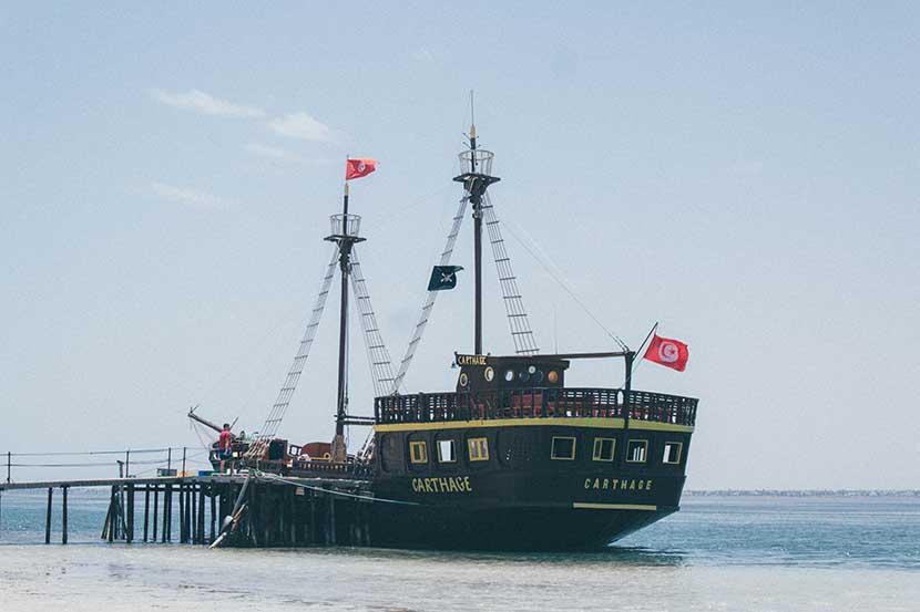 Pirate Ship Excursion to Flamingo Island in Djerba