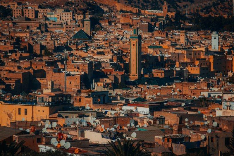 Fes medina landscape