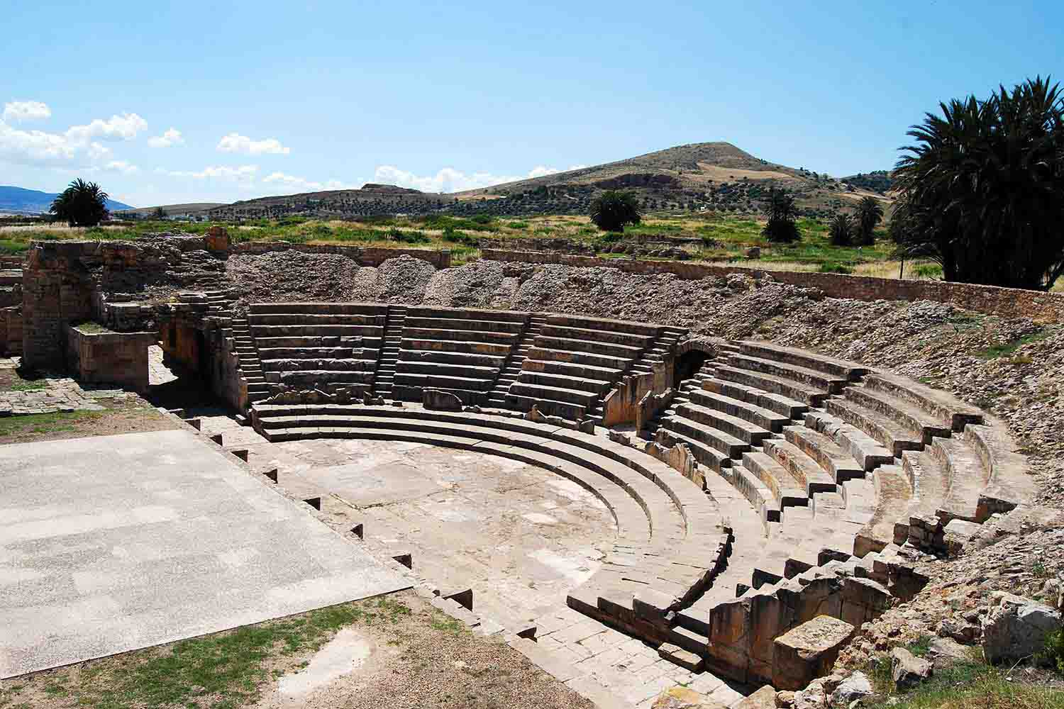 Amphitheatre at the Archaeological Site of Bulla Regia