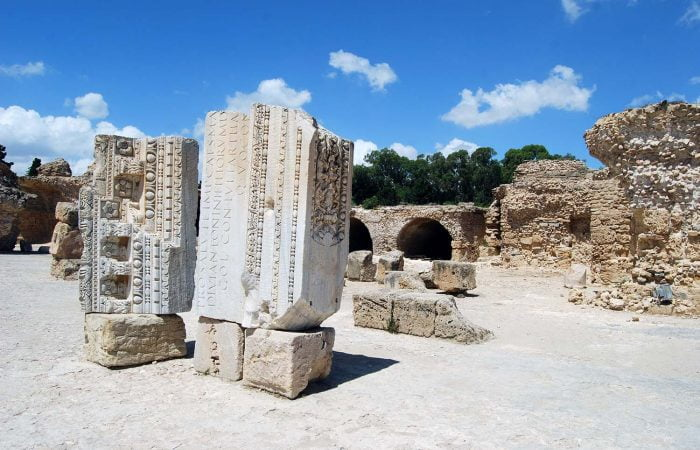 Ruins of Antonine Baths at the Archaeological Site of Carthage (UNESCO World Heritage Site)