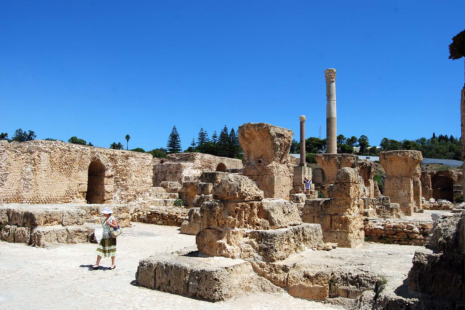 Antonine Baths at the Archaeological Site of Carthage (UNESCO World Heritage Site)