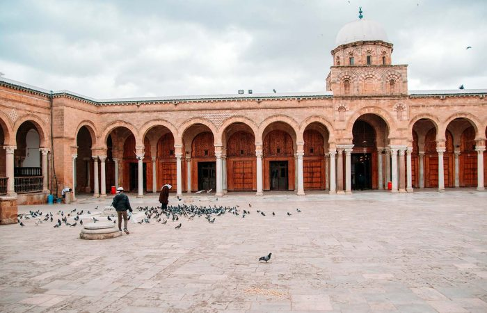 Zitouna Mosque in the UNESCO World Heritage Site of Tunis Medina
