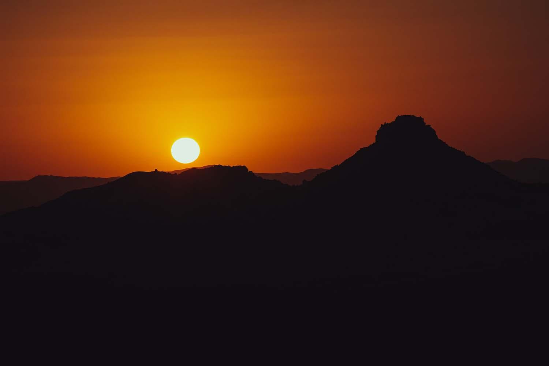 Beautiful Sunset in Djanet