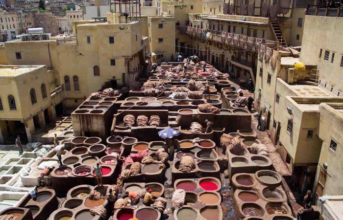 Leather Tannery in the Fes Medina