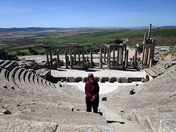 Jamie at Dougga Theater