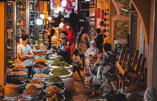 Shops in medina of Meknes