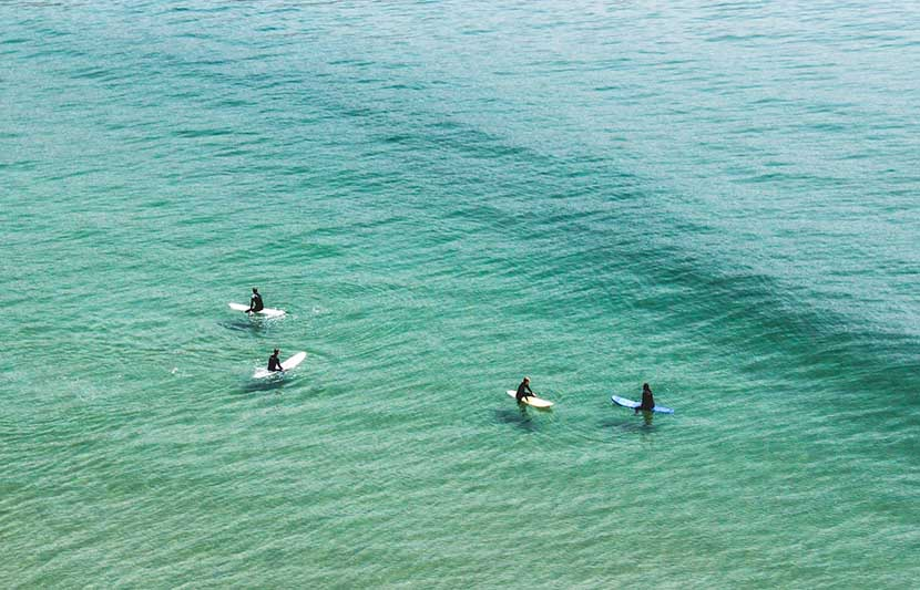 Surfers in Morocco