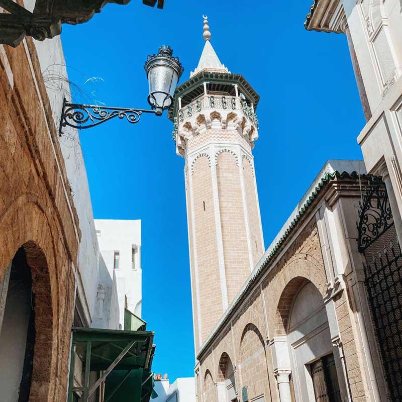 Zitouna Mosque in Tunis Medina