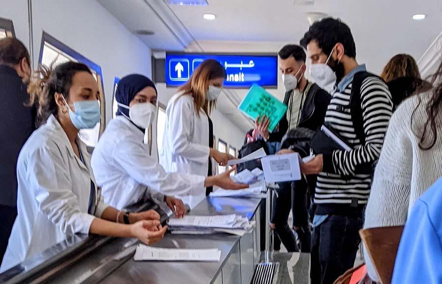 tunis airport quarantine check