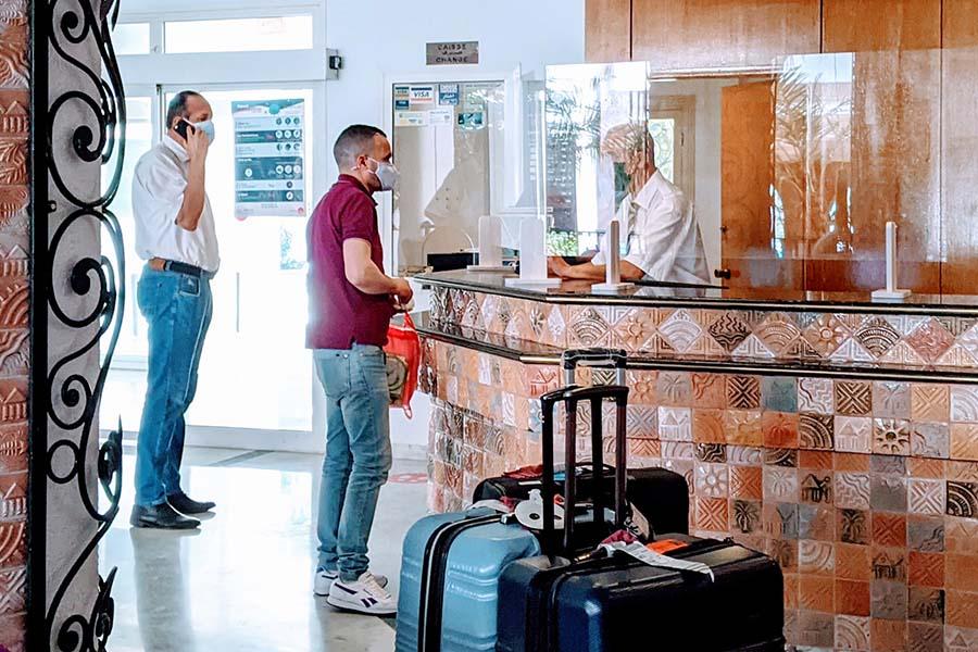 tunisia quarantine hotel reception